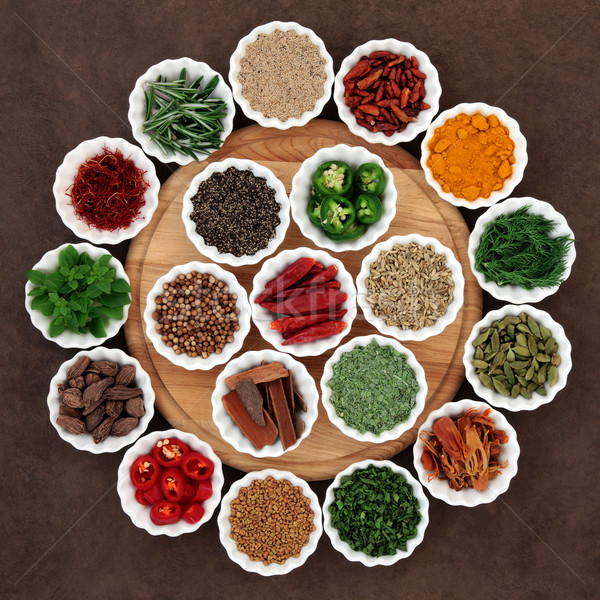 Herb and Spice Platter Stock photo © marilyna