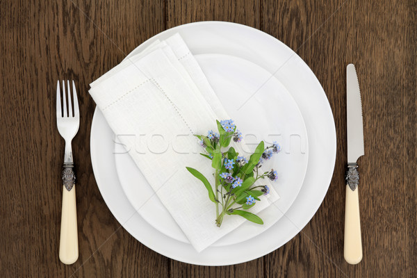 Fine Dining with Flowers Stock photo © marilyna