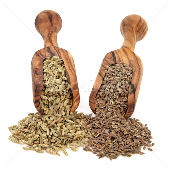 Stock photo: Fennel and Dill Seed