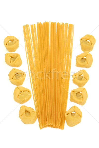 トルテッリーニ スパゲティ パスタ 抽象的な デザイン 白 ストックフォト © marilyna