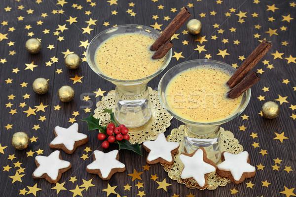 Christmas Eggnog for Two Stock photo © marilyna