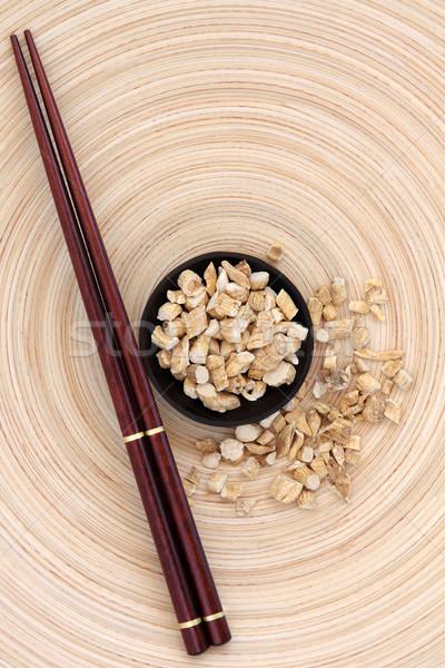 женьшень корень трава палочки для еды Сток-фото © marilyna