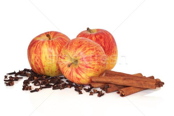 Apples Cinnamon and Cloves Stock photo © marilyna