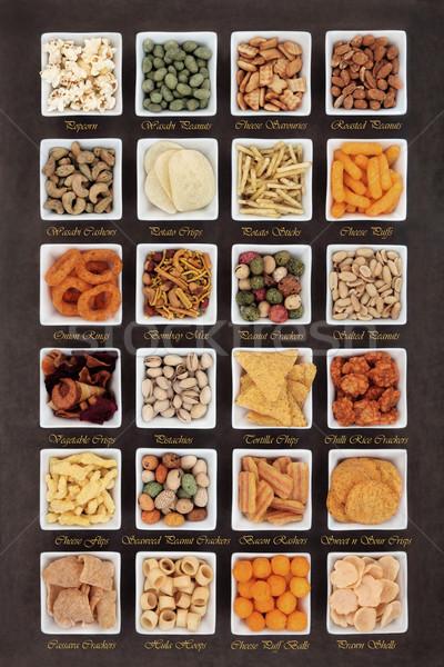 Ondeugend mooie voedsel groot snack vierkante Stockfoto © marilyna