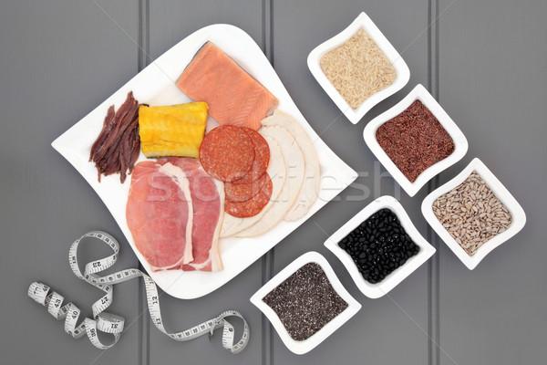 Stockfoto: Hoog · eiwit · dieet · voedsel · gezondheid · vlees