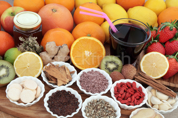 Health Food and Drink Remedy Stock photo © marilyna