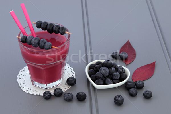 áfonya smoothie gyümölcslé ital dzsúz egészség Stock fotó © marilyna