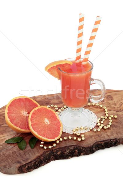Rubi vermelho toranja suco beber frutas frescas Foto stock © marilyna