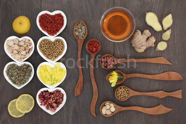 Medicinal Chinese Herb Teas Stock photo © marilyna