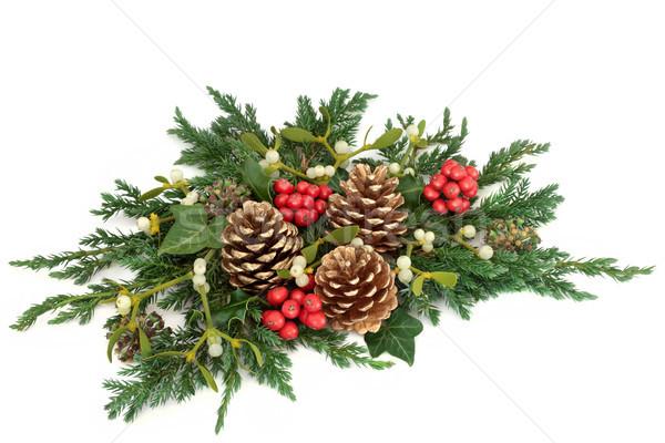 Christmas Floral Arrangement Stock photo © marilyna
