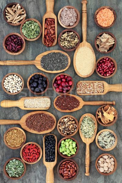 Yemek sağlıklı gıda bakliyat meyve tahıl Stok fotoğraf © marilyna