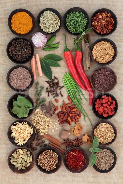 Stockfoto: Kruiden · specerijen · groot · Spice · kruid · collectie