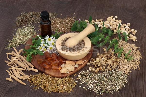 Naturalnych zioła niepokój używany snem Zdjęcia stock © marilyna