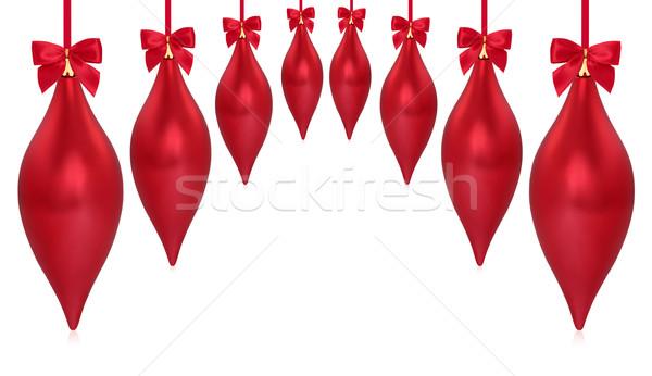 聖誕節 液滴 飾 紅色 孤立 商業照片 © marilyna