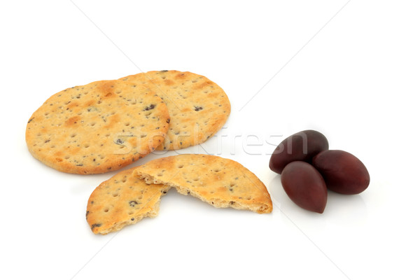 Olive Cracker Biscuits Stock photo © marilyna