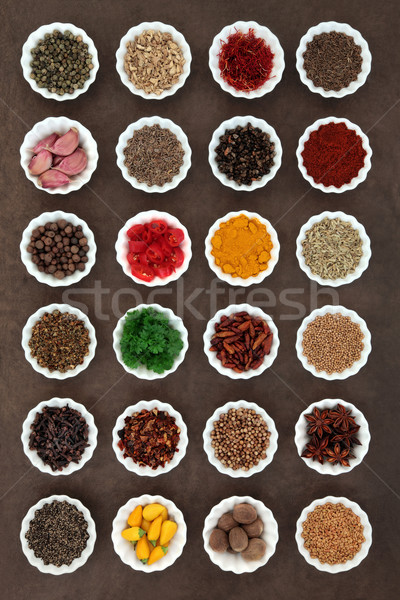 Aromatic Spices and Herbs Stock photo © marilyna