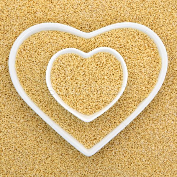 Cuscús corazón bolos alimentos naturaleza Foto stock © marilyna