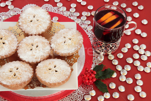 Mince Pies and Mulled Wine Stock photo © marilyna