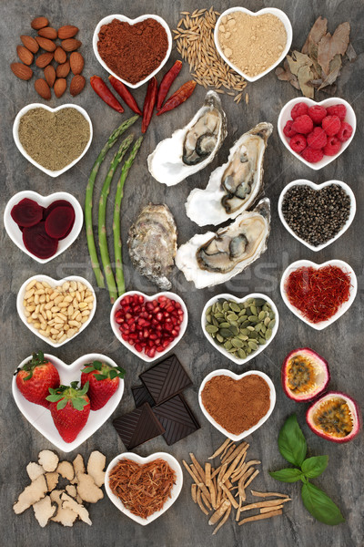 Healthy Aphrodisiac Food Selection Stock photo © marilyna