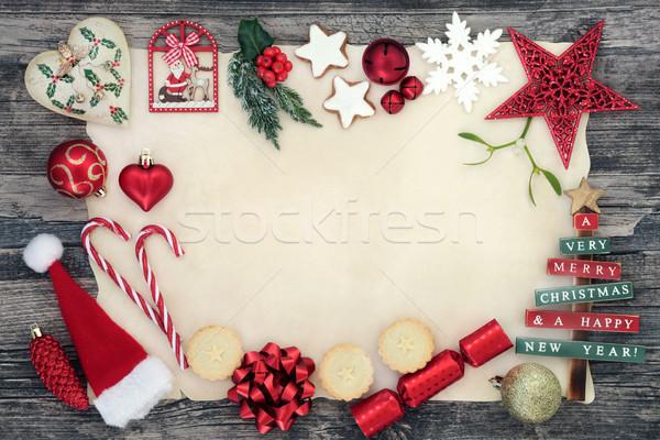 Christmas Background Border Stock photo © marilyna