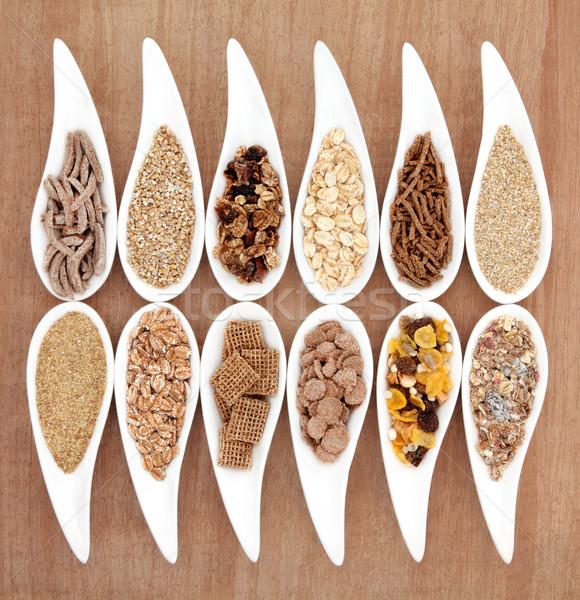 Saudável café da manhã escolha cereais pratos Foto stock © marilyna