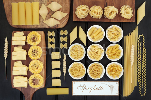 Spaghetti Pasta Dried Food Sampler Stock photo © marilyna