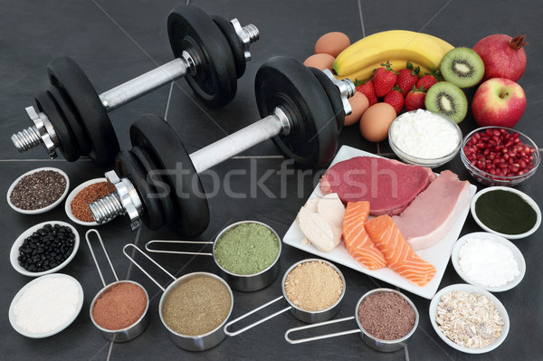 Healthy Food for Body Builders Stock photo © marilyna