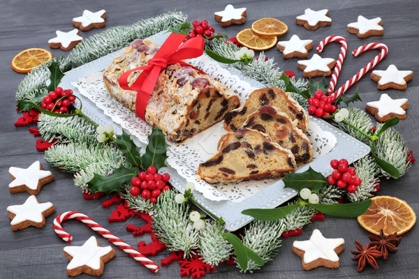 Stollen Christmas Cake Stock photo © marilyna