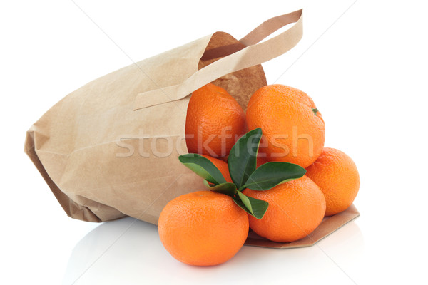 Mandarin Oranges in a Bag Stock photo © marilyna