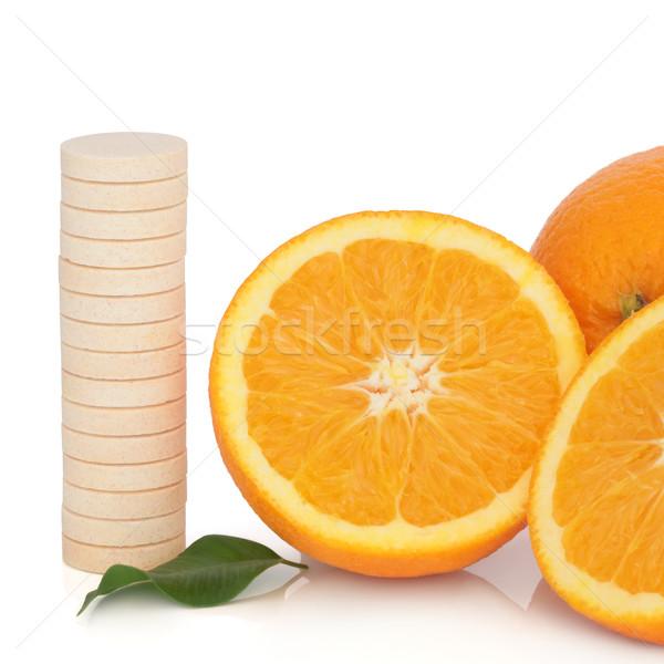 витамин С таблетка оранжевый плод все Сток-фото © marilyna