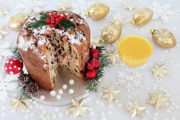Chocolate Panettone and Egg Nog Stock photo © marilyna