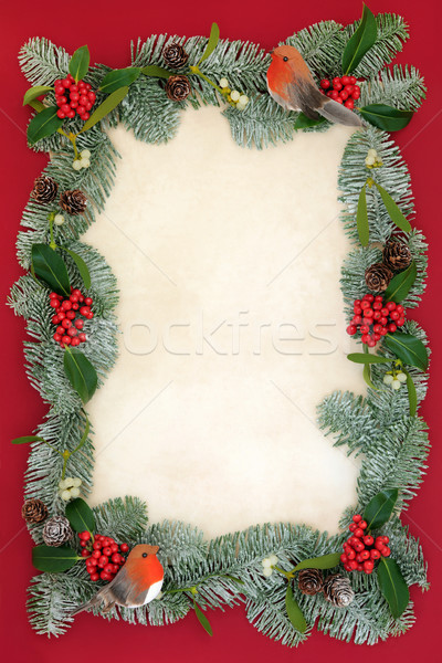 Christmas Background Abstract Border Stock photo © marilyna