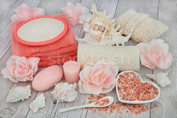 Stock photo: Cleansing and Exfoliating Accessories