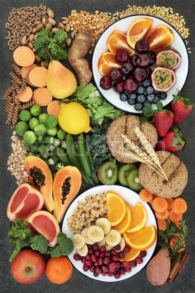 Healthy High Fiber Dietary Food Selection Stock photo © marilyna