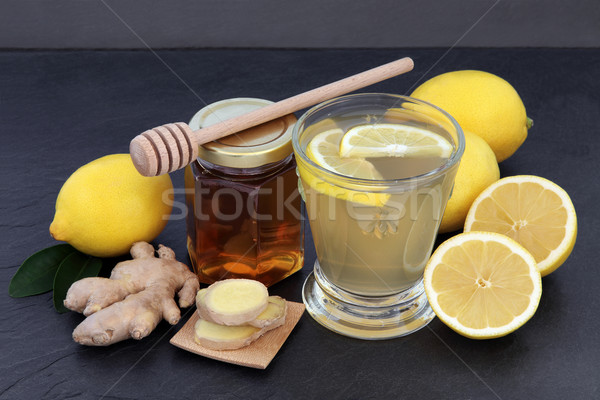 Stockfoto: Warme · drank · koud · griep · remedie · opluchting · drinken