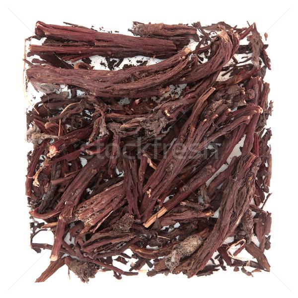 Raíz hierba utilizado naturales medicina alternativa blanco Foto stock © marilyna