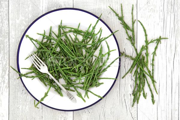 岩 健康食品 野菜 健康 食品 プレート ストックフォト © marilyna