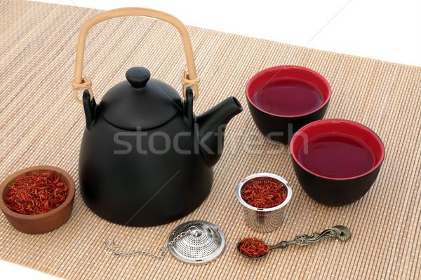Safflower Herb Tea Stock photo © marilyna