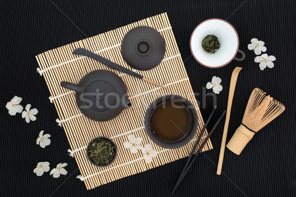 Stock photo: Sencha Sukiygu Makoto Japanese Tea