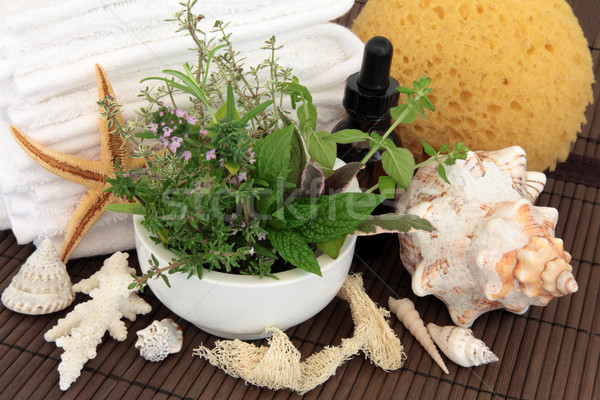 Foto d'archivio: Trattamento · termale · aromaterapia · bagno · accessori · erbe