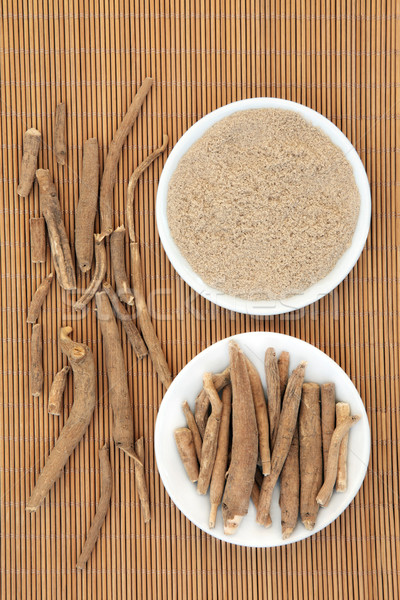 Ginseng herbe root poudre bambou santé Photo stock © marilyna