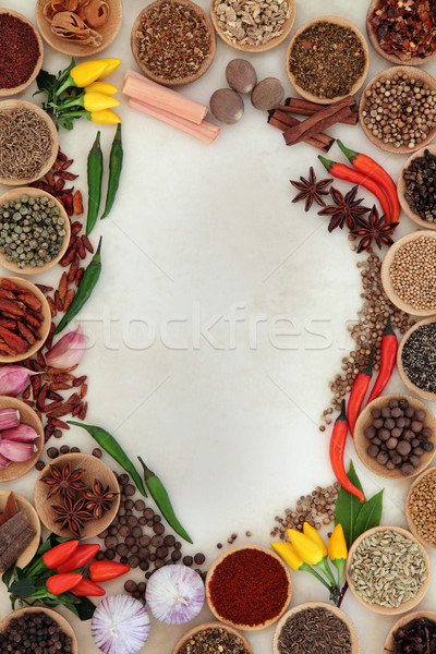 Spice and Herb Border Stock photo © marilyna