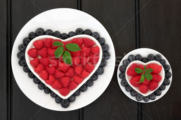 Blueberry and Raspberry Super Food Stock photo © marilyna