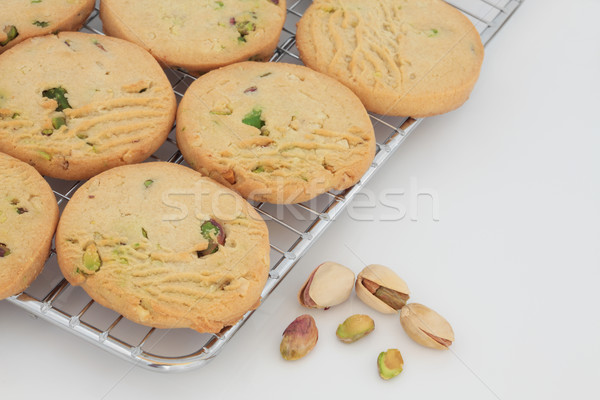 Pistachio Shortbread Biscuits Stock photo © marilyna