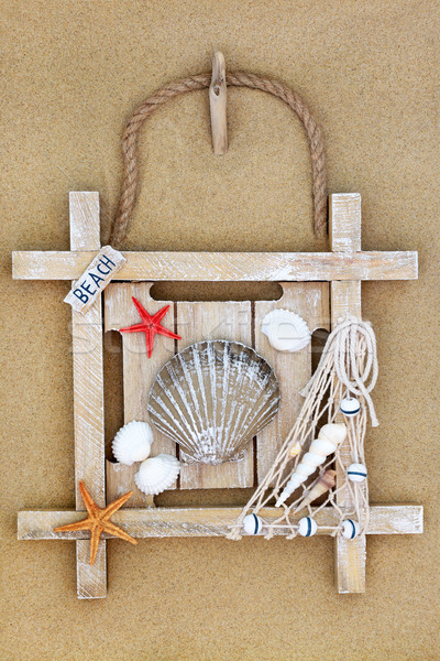 Rustic Beach Sign  Stock photo © marilyna