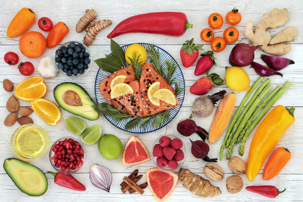 Healthy Diet Food to Promote Heart Health Stock photo © marilyna