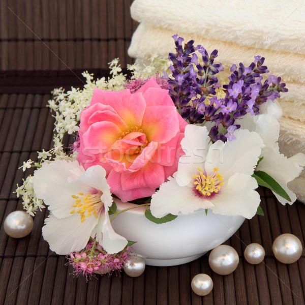Сток-фото: лет · цветок · красоту · закрывается · лаванды · трава