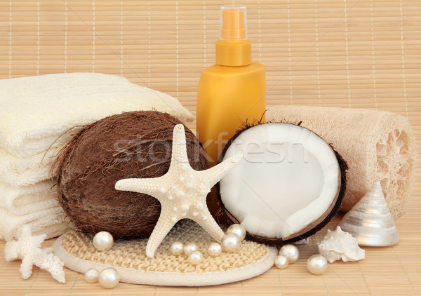Sunscreen and Spa Accessories Stock photo © marilyna