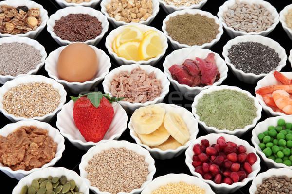 Tápláló egészség étel testépítés magas fehérje Stock fotó © marilyna