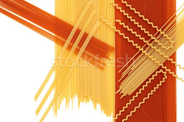 Italian Pasta Background Abstract Stock photo © marilyna